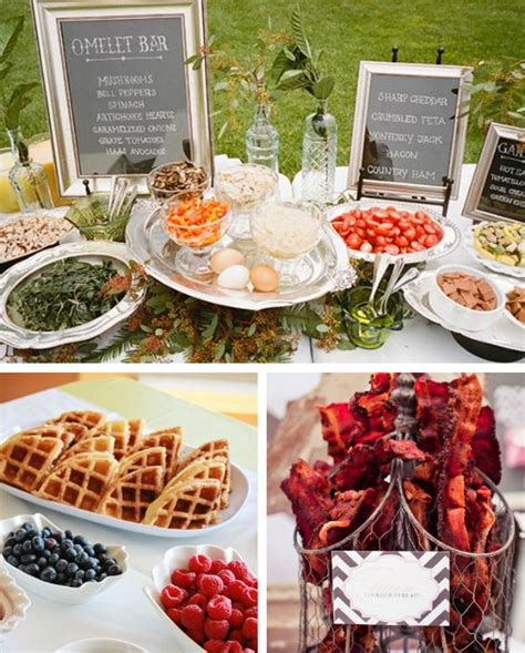 17 Insanely Affordable Wedding Ideas From Real Brides Brunch Buffet Ideas