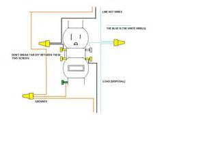 dimmer switch to gfi wiring diagram dimmer wiring diagram