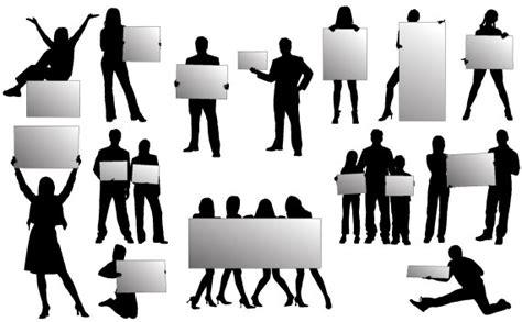 imagenes urbanas vectorizadas siluetas vectorizadas de personas con carteles kabytes