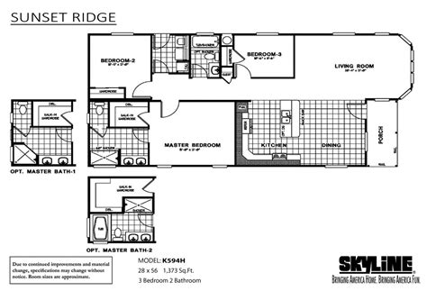 manufactured homes floor plans california skyline homes of san jacinto