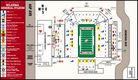 ou map oklahoma memorial stadium map 180 w st norman ok mappery