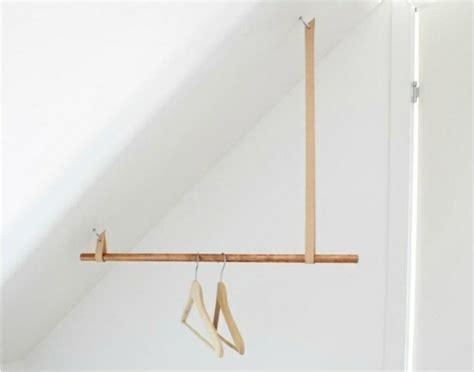 kleiderstange selber bauen ankleidezimmer selber bauen bastelideen anleitung und