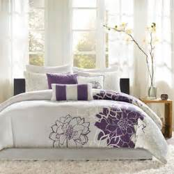 Grey purple twin comforter set home bed amp bath bedding