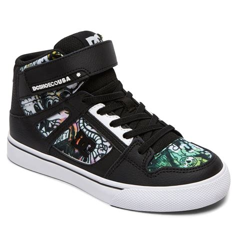 kid high top shoes kid s se ev high top shoes adbs300325 dc shoes