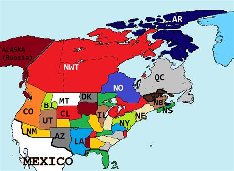 map world republic american republic 1756 world alternative history