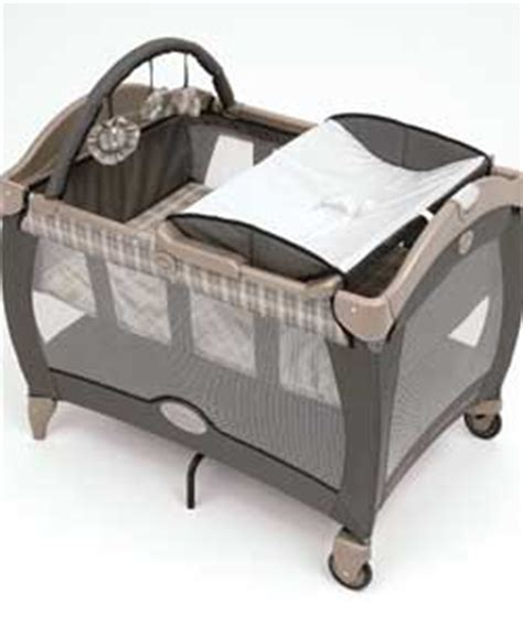 Graco Electra Travel Cot Bassinet Deluxe Changing Table Travel Cot Changing Table