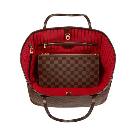 interno bauletto louis vuitton neverfull mm damier ebene canvas handbags louis vuitton