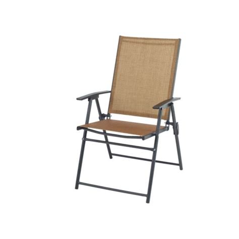 outdoor vinyl fabric folding sling steel frame chair