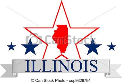 Illinois Search By Name Eps Vector Of Illinois Illinois State Map And Name Csp9329784 Search