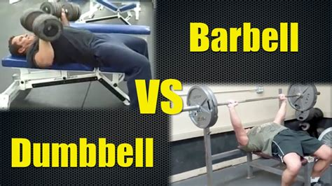 dumbbell bench press vs barbell dumbbell bench to barbell bench conversion youtube