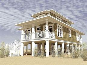Beach House On Stilts by Beach House Plans Amp Coastal Home Plans The House Plan