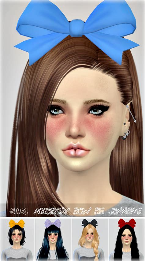 bow baby at jenni sims 187 sims 4 updates jennisims downloads sims 4 new mesh accessory hair bow