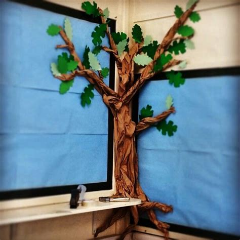 How To Make A Paper Tree For A Classroom - great outdoors tree classroom display made from paper