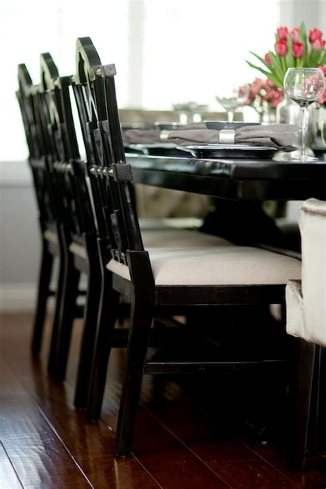 Belmont White Kitchen Island black dining chairs design decor photos pictures