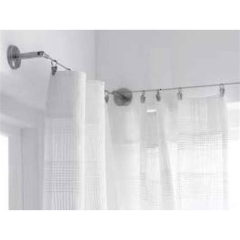 wire curtain rod with clips curtain wire rod set stainless steel multi purpose 16 5