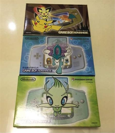 Gba Set C gameboy advance console center limited 3 set suicune celebi new york 740