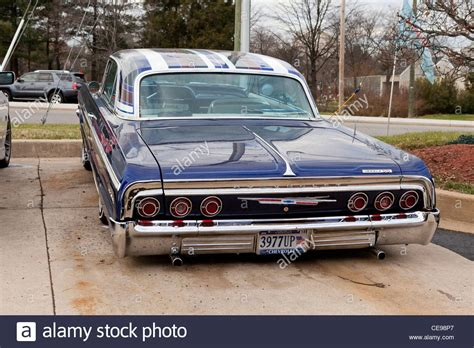 1964 chev impala 1964 chevy impala lowrider stock photo royalty free image
