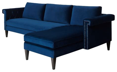nathaniel reversible sectional sofa navy blue modern