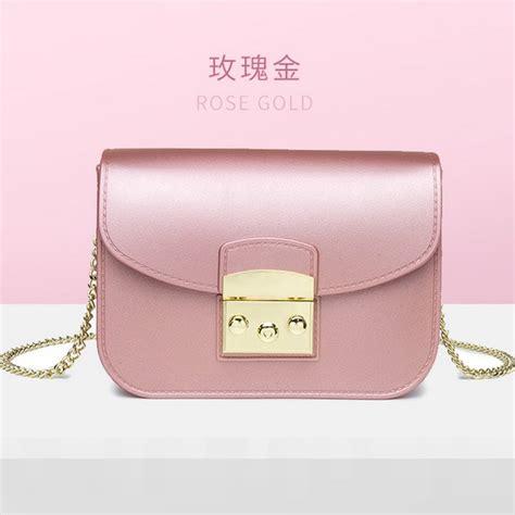 Tas Anak Jelly jual bom1070 pinkgold tas jelly import elegan