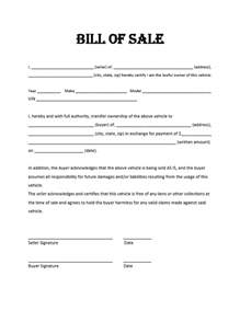 car bill of sale template free free bill of sale template cyberuse