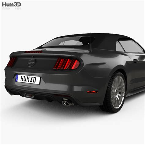 specs on 2015 mustang gt ford mustang gt eu spec convertible 2015 3d model hum3d