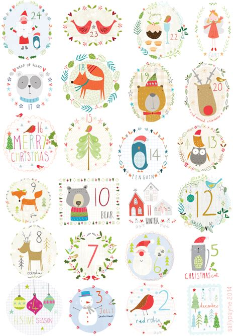 Calendrier Carte Calendrier De L Avent Cartes 224 Imprimer Noel