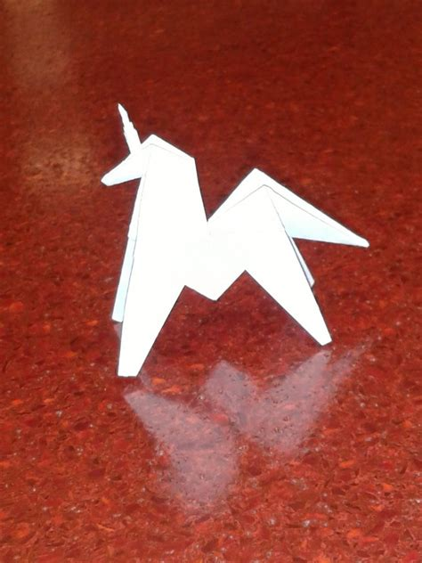 unicorn origami origami unicorn by aceofsongs on deviantart