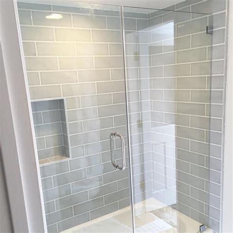 Home Depot Bathroom Tile Ideas by Gray Blue Large Subway Tile From Home Depot Brand