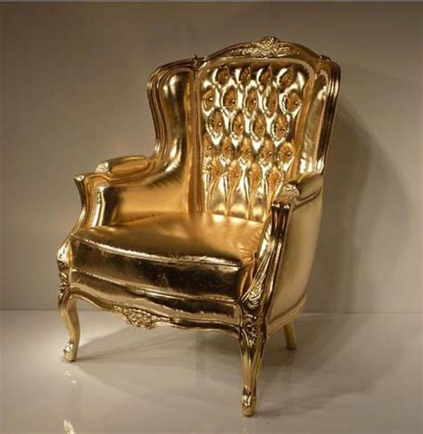 stuhl gold 4002 gold leaf tufted chair in eco leather this gold