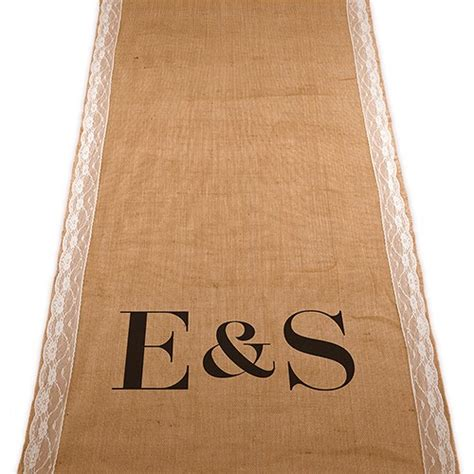 Personalized Wedding Aisle Runner Cheap by Personalized Burlap Aisle Runner With Equestrian Monogram