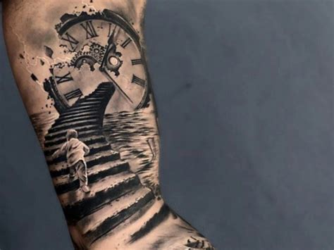 stairway tattoo designs pin by nails by on tattos clock faces