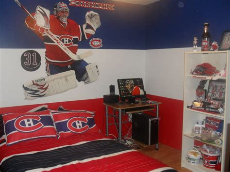 d 233 coration chambre hockey canadien
