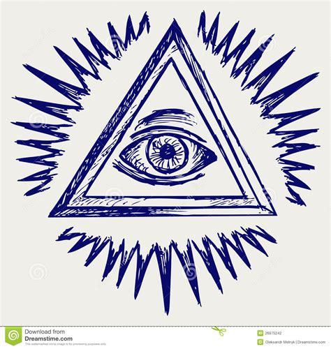 all seeing eye stock photography image 26975242
