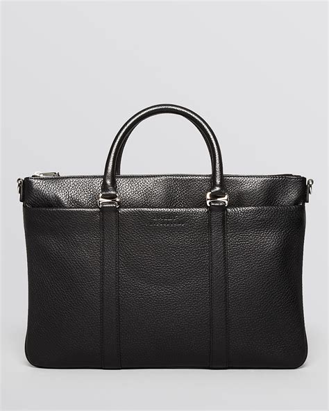 Bag Bally Black Premium Kode 9907 bally migan grain leather flat computer bag bloomingdale s
