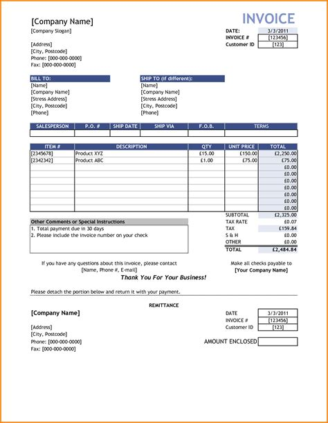reimbursement invoice template sle invoice reimbursement free invoice template