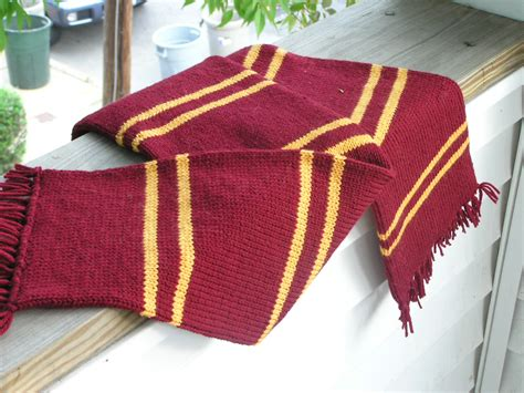 gryffindor scarf knitting pattern prisoner of azkaban gryffindor scarf knitting
