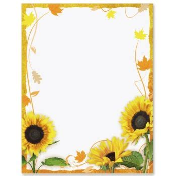 sunflower surprise border papers sunflowers paper
