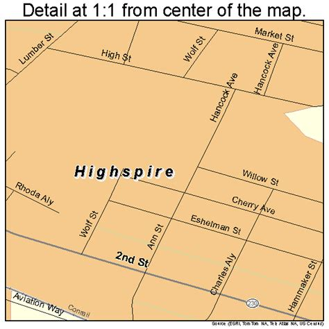 a ragdoll to highspire pa highspire pennsylvania map 4234664