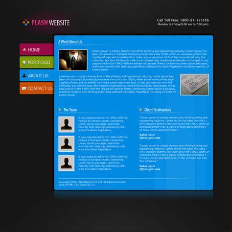 flash menu templates flash website template by rjoshicool themeforest