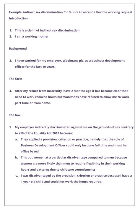 starting discrimination claim completing