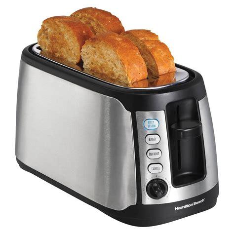 Toaster 4 Slice Long Slot Hamilton Beach 4 Slice Keep Warm Toaster 24810 Ebay