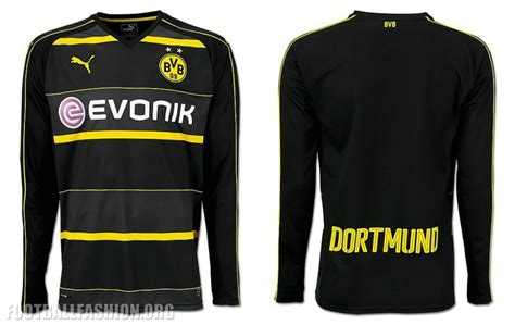 Jersey Dortmund Away 2016 2017 borussia dortmund 2016 17 away kit football fashion org