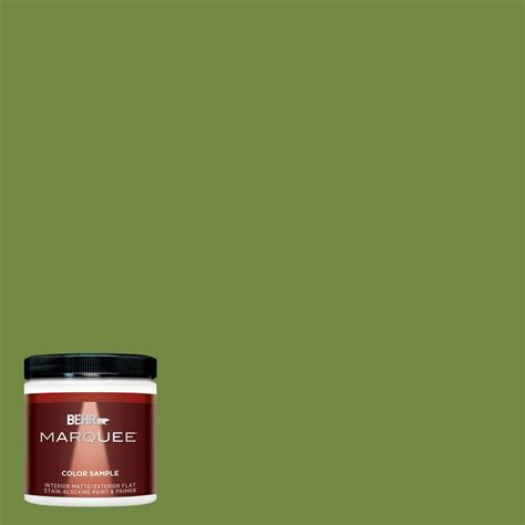 behr marquee 8 oz mq4 44 green dynasty interior exterior paint sle mq30316 the home depot