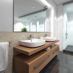 modernes badezimmer vanity set weniger ist mehr reduzierte badfliesen neutrale farben