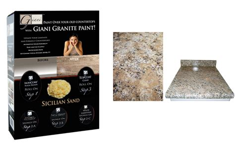 Laminate Countertop Refinishing Kit - granite countertop paint kit giveaway countertop guides