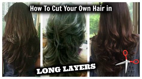 how to cut your own hair in v shape layers how i cut layers in my hair at home youtube