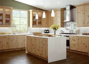 solid pine kitchen cabinets canyon creek s trio door style in rustic maple is paired