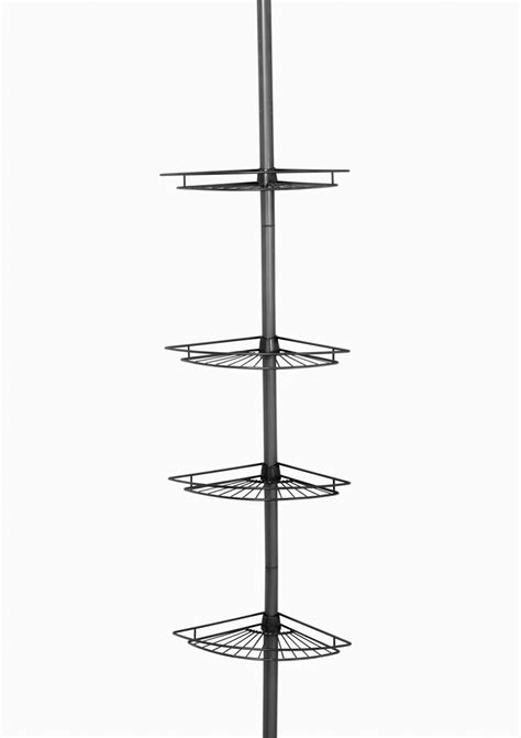 zenith bathtub and shower pole caddy zenith products tub and shower tension pole caddy 4 shelf