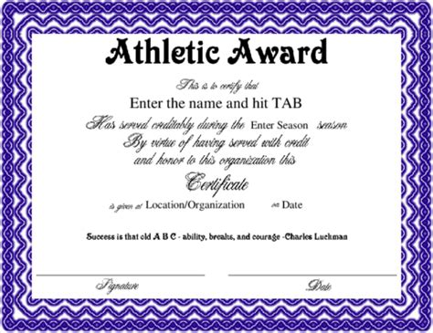 award certificate template for schools and sport clubs award certificate templates