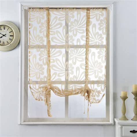 short door panel curtains kitchen short curtains jacquard roman blinds floral white